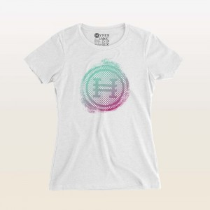 Hyper Painted Circle Girls / Womens Tee