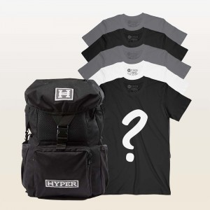 5 Mystery Tees + Backpack